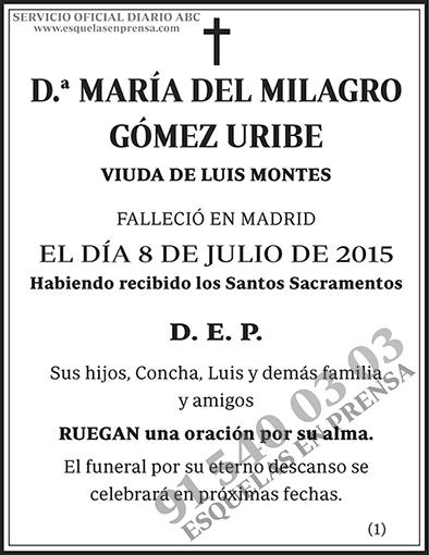 María del Milagro Gómez Uribe